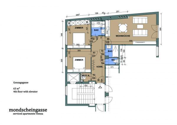 1010 Gonzagagasse Plan engl